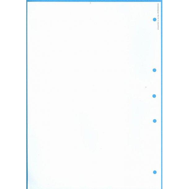 Blade til protokol uden tryk, A4, 4 hul (nr. 13)